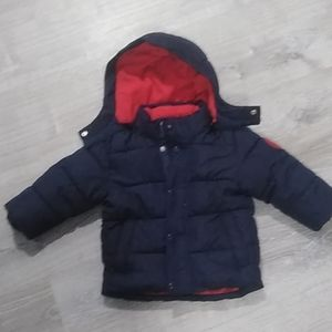 Baby Gap navy and red coat 18-24 months EUC